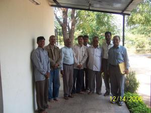 Manager Prakash Sapkal (4th from lefft) with some school teachers.