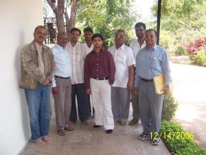 Sandeep with school teachers and the orphanage manager.