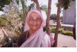 Mr. B.G.Kolse-Patil's mother. She stays at the orphanage, she is 91.